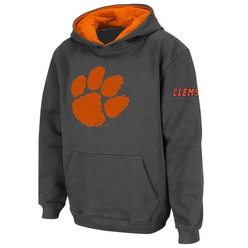 Clemson Tigers Stadium Athletic Youth Big Logo Pullover Hoodie - Charcoal