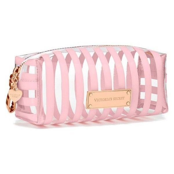 Victoria's Secret Small Cosmetic Bag ❤ liked on Polyvore featuring beauty products, beauty accessories, bags & cases, wash bag, make up purse, make up bag, travel kit and cosmetic bag
