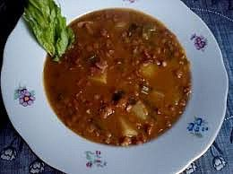 Čočková polévka (nejen) s uzeným masem