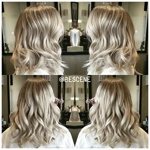ALL ABOUT THAT BASE! Sometimes the trick to achieving multi-dimensional color is getting that base to the perfect tone and level to accentuate the blonde. You don't have to get the blonde insanely light for it to shine. I used @Schwarzkopfusa Igora Royal Base: 6-63, 7-1 10vol Ends: 9.5-22, 9.5-49 10vol. 😉 Tousled waves by my assistant @sunny_bescene👌 #BESCENE