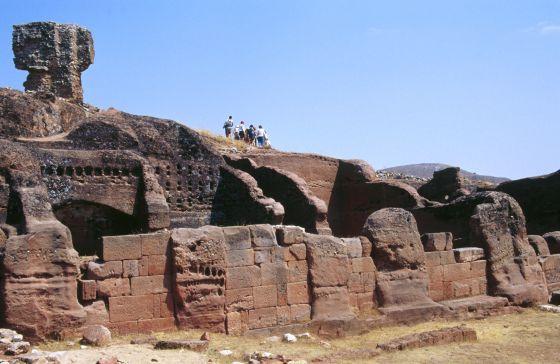 El sitio arqueológico de Tiermes, cerca de Montejo de Tiermes (Soria).