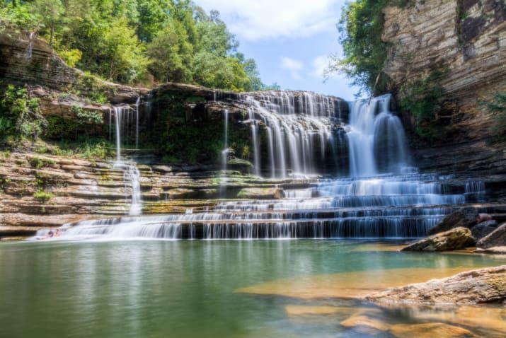 カミンズ・フォール州立公園(テネシー) スニーカーを忘れずに。プールに行くにはハイキングがマスト。