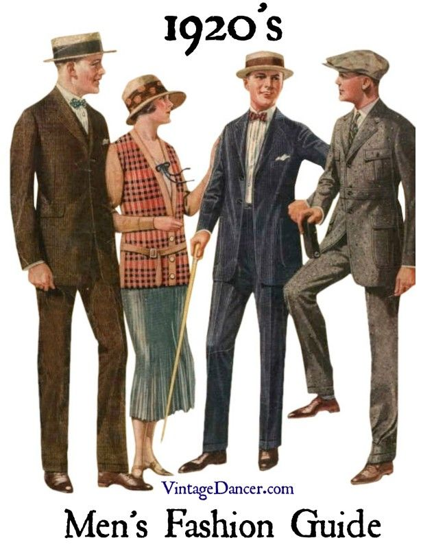 1920s mens fashion: suits for Von Sochocky, far right jacket!