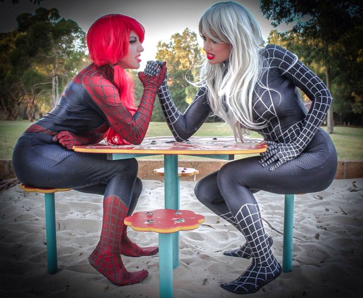 Spider MJ vs Spider Felicia with Lady Jaded.