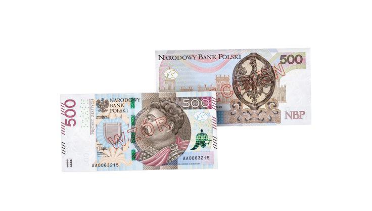 Banknot 500 zł - Zabezpieczenia polskich banknotów