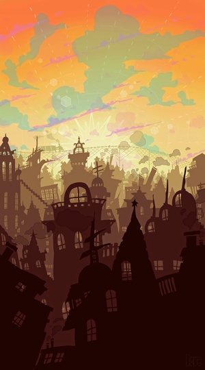 By Silhouette City on søciety6 - I love the colors in this