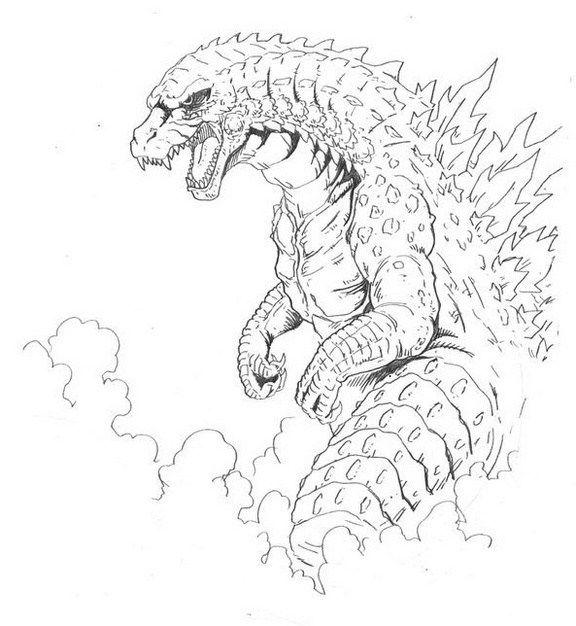 mythology godzilla monsters coloring page printable