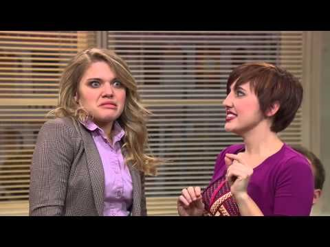 """Flirting Academy from Studio C. """"Oh no, I always have bubbles."""" Haha! This is seriously my favorite show right now."""