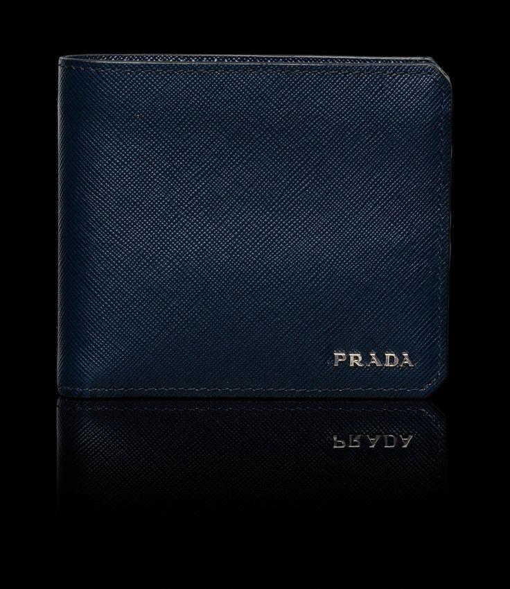 Prada Baltic Blue Bi-fold Wallet | Accessory | Pinterest - prada wallet baltic blue