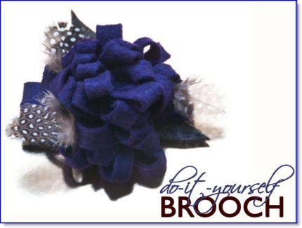 Felt-Flower Brooch ♥ http://felting.craftgossip.com/2014/05/29/make-spirits-bright-with-a-handmade-felt-flower-brooch-diy-tutorial/