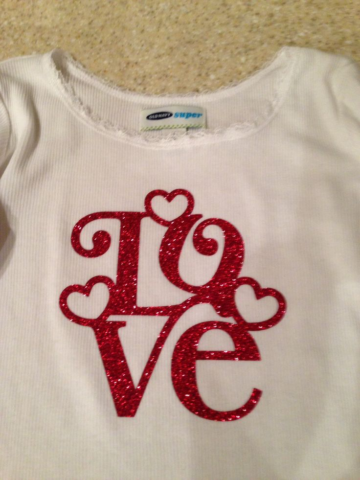 Valentine shirt made with my Silhouette Cameo.