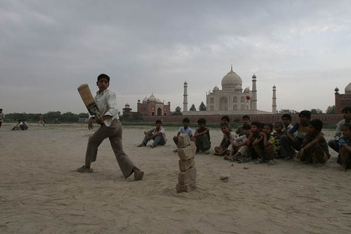 #Cricket at Yamuna Riverbed,...    Share and Repin if you like this. Thanks