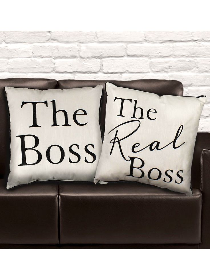 Amore by Juliana The Boss & The Real Boss Cushion Set - Wedding/Anniversary Gift
