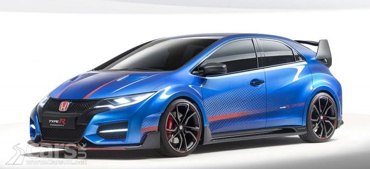 New Honda Civic Type R Concept previews production Type R.  http://www.carsuk.net/new-honda-civic-type-r-concept-previews-production-type-r/