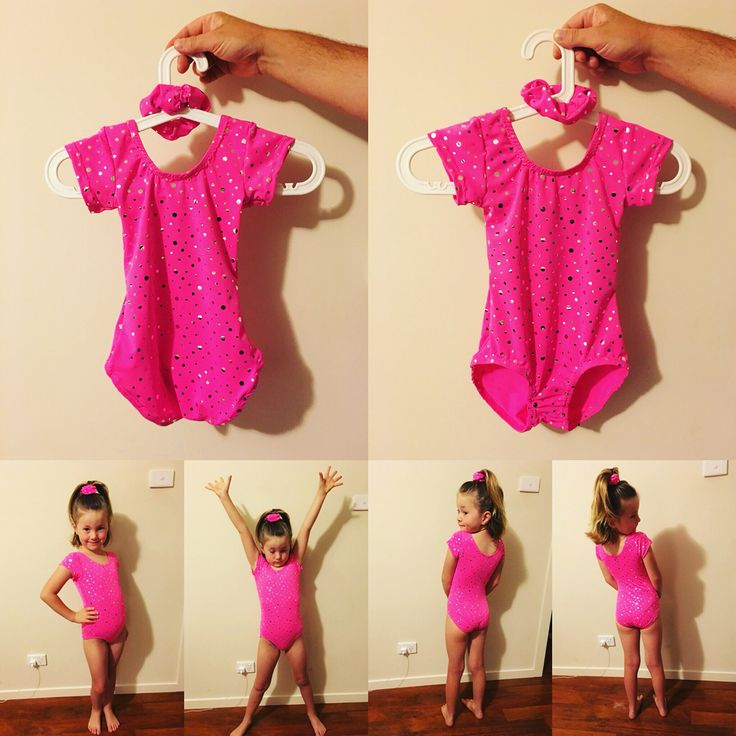 Made Lil a leotard with matching scrunchy for gymnastics. Cost me $8.50.
