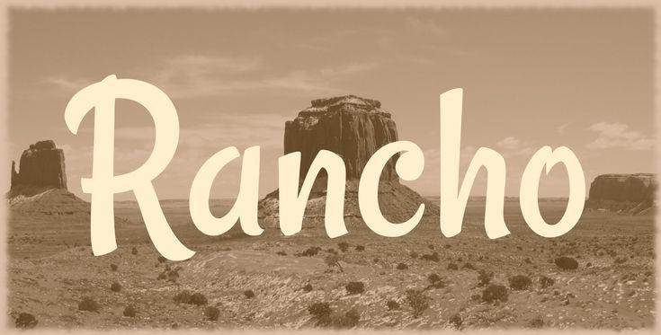 Rancho Font · 1001 Fonts