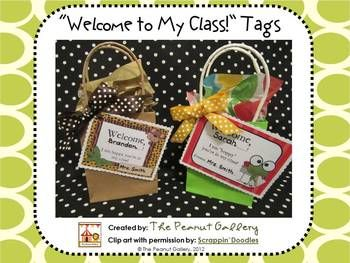 Welcome new students to your class with these cute welcome tags! Four tags in three different styles (jungle, frogs, owls) are included. They are great for tying to treat bags, school supply bags, introductory activities, etc. or even taping onto student desks, adding to bulletin boards, etc.