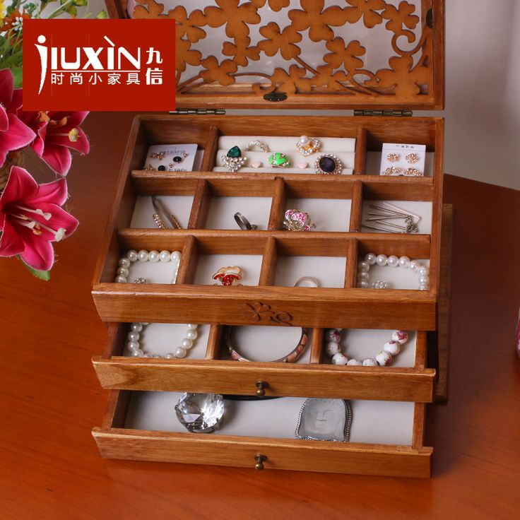 Kore ticaret mücevher kutusu prenses Avrupa ahşap dolaplar ahşap mücevher kutusu, kozmetik kutusu soyunma saklama kutusu