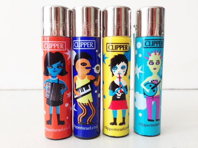 Clipper lighters 4 pcs set refillable |New| ROCK FREAKS |Limited Edition|