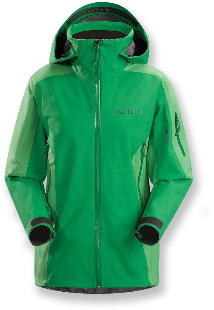 Stingray Jacket Women's Lightly insulated, waterproof GORE-TEX® Soft Shell  jacket designed for use on the ski hill.