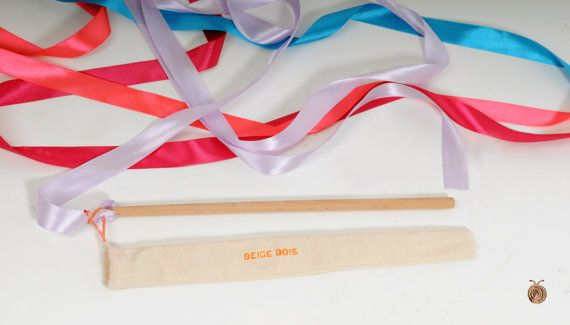 Rhythmic Gymnastics Ribbon  Satin ribbon  Girls toy  by beigebois, €6.00