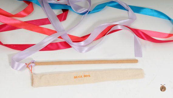 Rhythmic Gymnastics Ribbon  Satin ribbon  Girls toy  by beigebois, €6.00