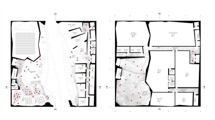 slasharchitects Çanakkale War Research Center 07 #slasharchitects #architecture #competition #researchcenter #concept #plan #drawing #presentation