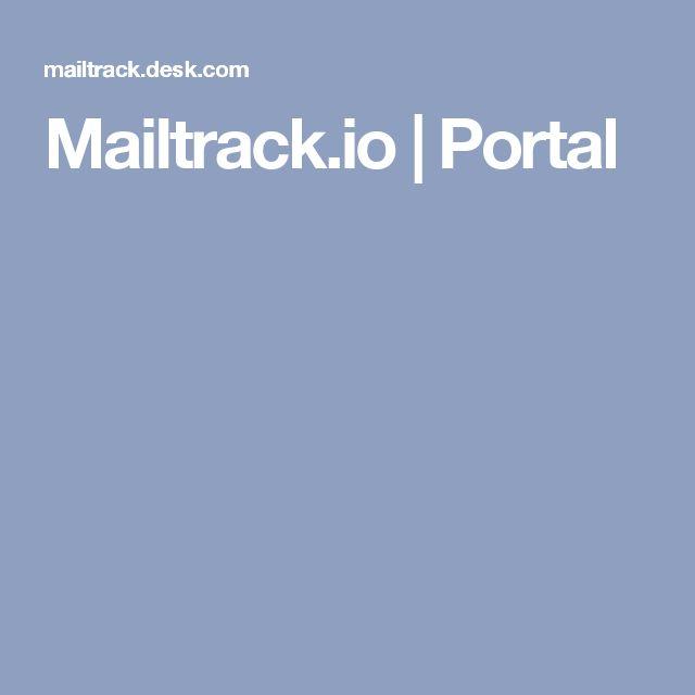 Mailtrack.io |        Portal