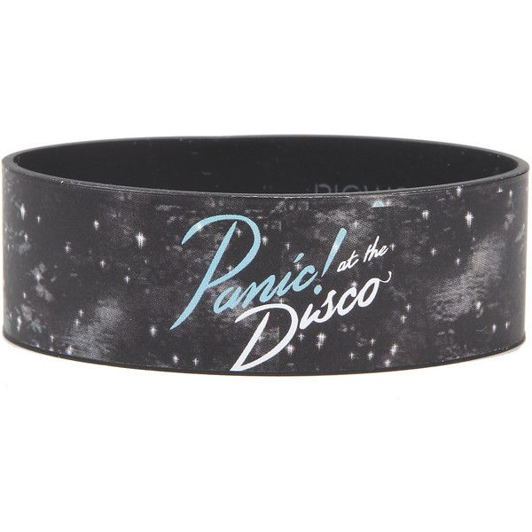Panic! At The Disco Galaxy Rubber Bracelet Hot Topic ($21) ❤ liked on Polyvore featuring jewelry, bracelets, rubber bangles, rubber jewelry, cosmic jewelry and disco jewelry