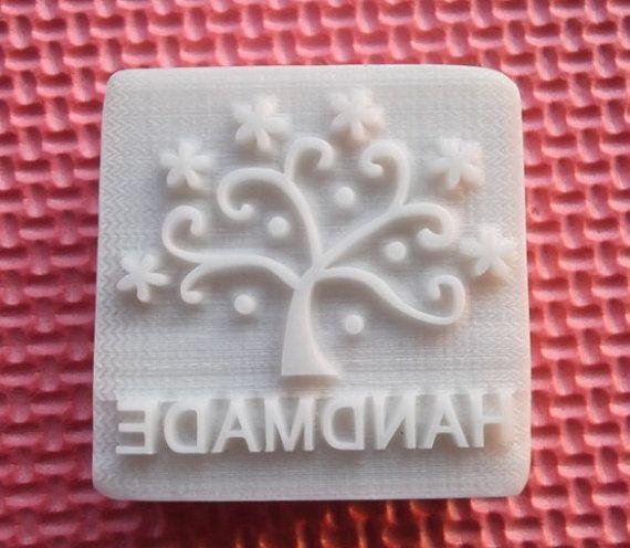 Handmade Tree Soap Stamp Soap Mold Resin Stamp Cake by diycakemold