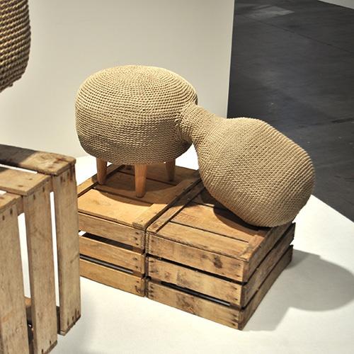 crocheted hemp furniture by sampling