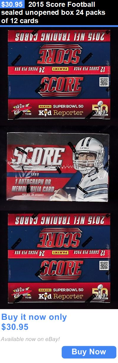 Sports Memorabilia: 2015 Score Football Sealed Unopened Box 24 Packs Of 12 Cards BUY IT NOW ONLY: $30.95