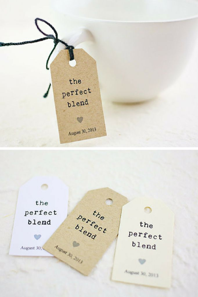 blend tag wedding favor tag bridal shower favor party favor coffee tag ...