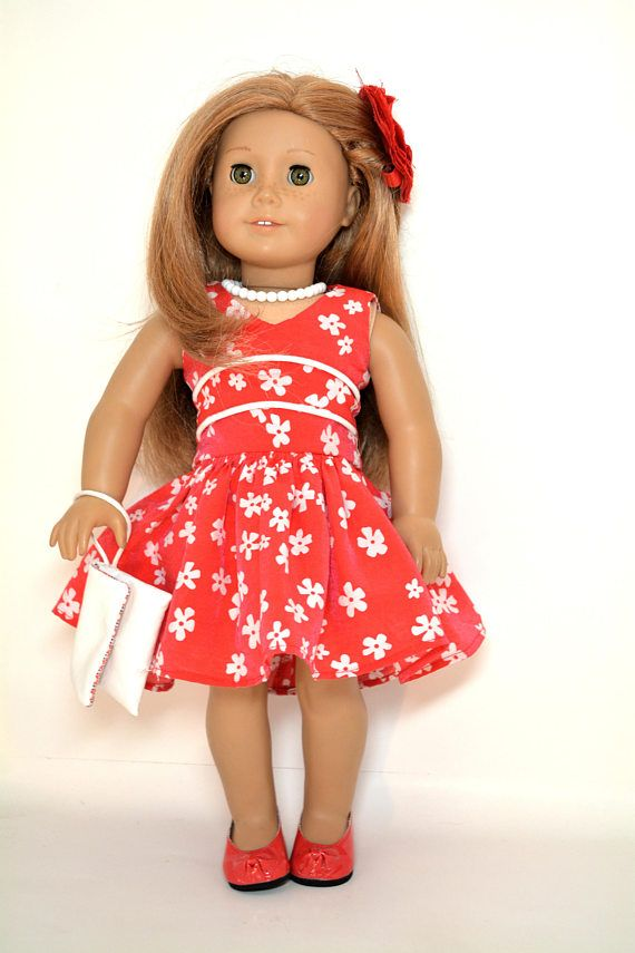 9492d38c5 18 inch doll dress fits dolls like American Girl - 5 piece outfit ...