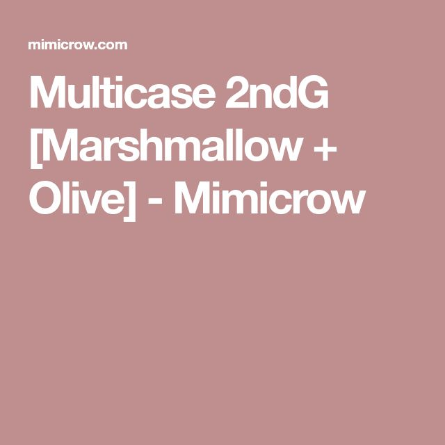 Multicase 2ndG [Marshmallow + Olive] - Mimicrow