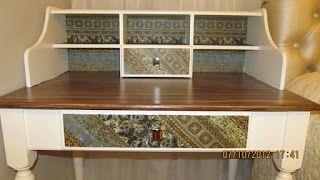 Fazendo Arte com Rosangela Renosto: Escrivaninha em MDF com efeito madeira e aplicação...