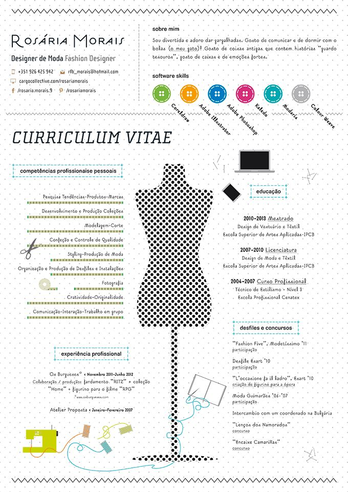 The 25+ best Curriculum vitae exemplo ideas on Pinterest - fashion design resume