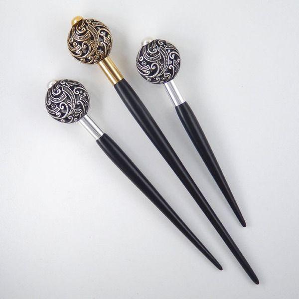 Haarreifen - Haarnadel Haarstab Metall 1 - ein Designerstück von Senzalimiti bei DaWanda