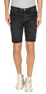 $24, Black Denim Shorts: Cheap Monday Denim Bermudas. Sold by yoox.com. Click for more info: http://lookastic.com/men/shop_items/28108/redirect