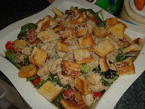 Рецепт приготовления салата цезарь на английском языке