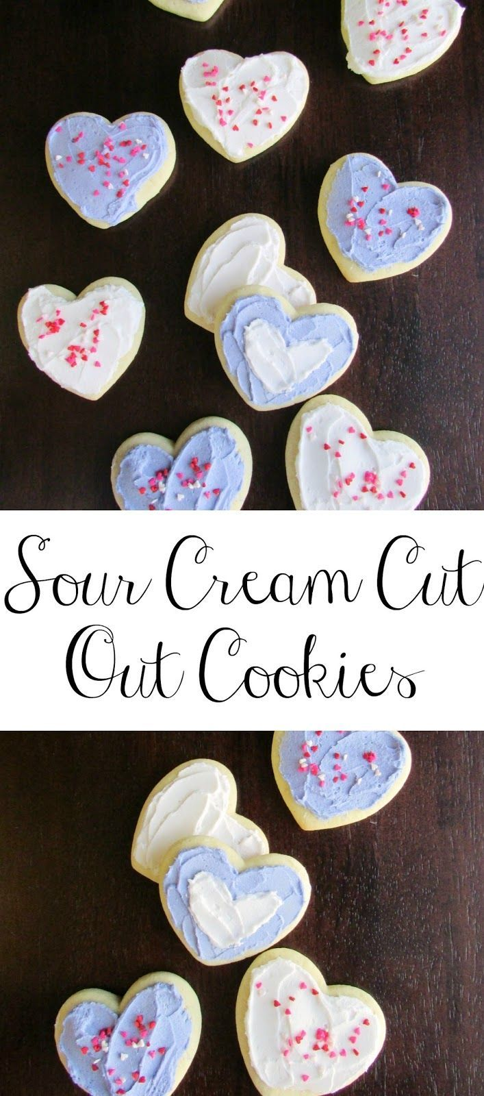 These Sour Cream Cut Out Cookies are so soft and delicious.  They are perfect with cream cheese frosting, buttercream or royal icing!