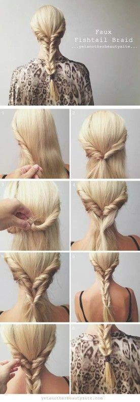 Faux fishtail braid, so easy!
