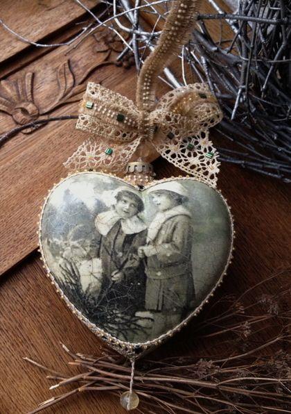 """Купить """"Кружевное сердце"""" Большое интерьерное украшение. - новый год 2013, подарок на новый год, эксклюзивный подарок"""