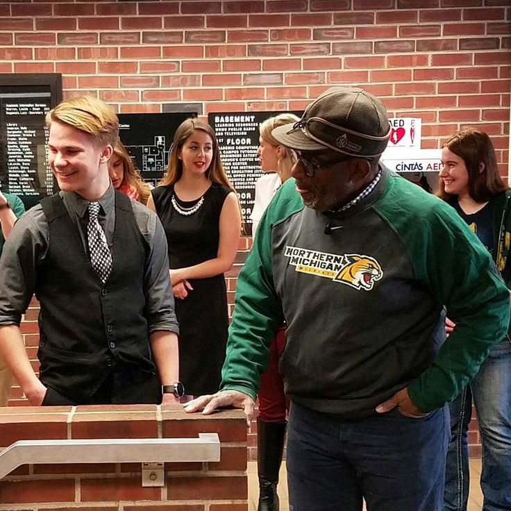 """""""Just met Al Roker from the Today Show! The best part? I will be on the Today Show live soon with him showing him Public Eye News! I feel so humbled right now. #sharenmu #lifeatnmu #marquettemi #adventure #puremichigan #publiceyenews #producing #director #10tolive #pen #wnmutv #anchor #newsanchor #alroker #nbc #todayshow #rokerthon"""" 