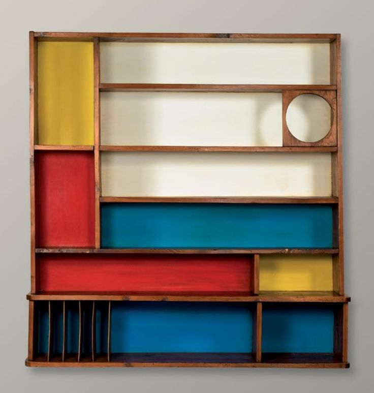 Mondrian-inspired shelf by Charlotte Perriand 1951