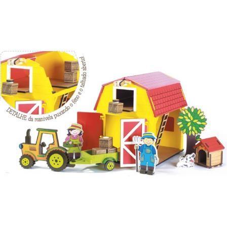 Brinquedo de Madeira Coleção Fazendinha - Celeiro - Bambalalão Brinquedos Educativos http://www.bambalalaobrinquedos.com.br/produto/brinquedo-de-madeira-colecao-fazendinha-celeiro.html