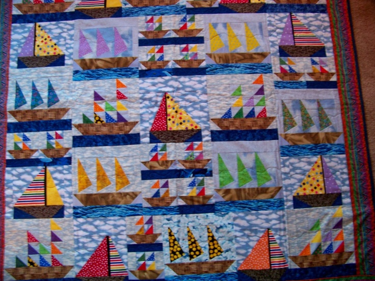 1000+ images about Sail Boat Quilts on Pinterest Iris folding pattern, Patterns and Fabrics