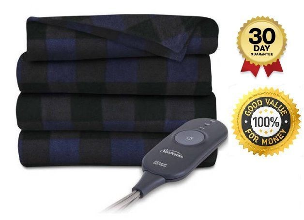 Electric Blanket Heated Fleece Throw Lap 3 Heat Settings Auto Shut-Off Warm Home #Blanket #Country