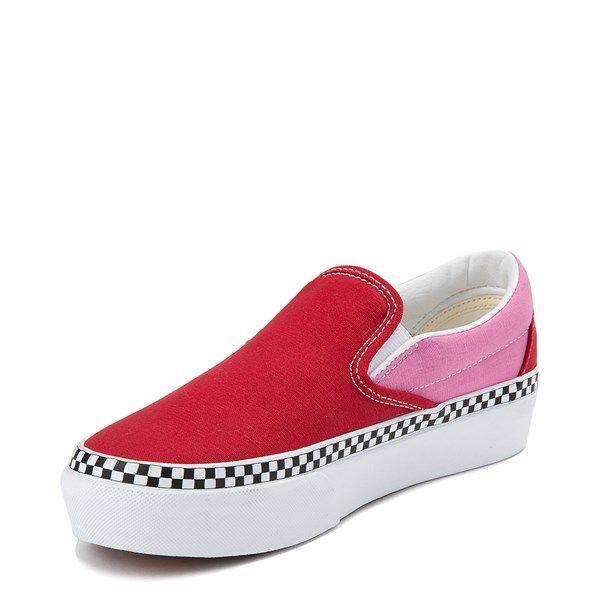 Anormal Ordenado educar  Vans Slip On Platform Skate Shoe - Chili Pepper / Fuchsia in 2020   Vans  slip on, Skate shoes, Slip on
