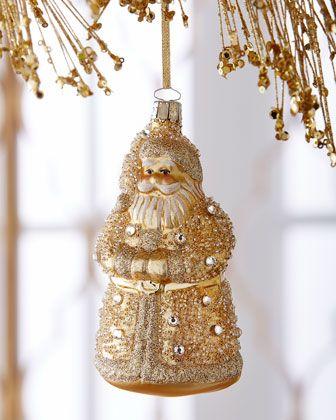 Golden+Santa+Christmas+Ornament+at+Neiman+Marcus.